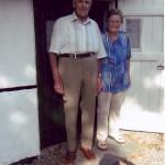 Harald Petersen og hustru Karen ved museet