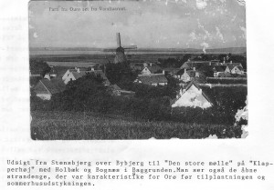 Partier fra Ourø, Bybjerg og Møllen fra Stensbjerg, postkort