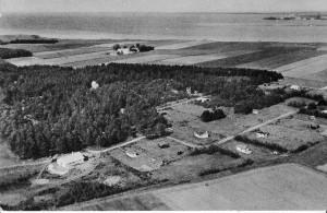 Luftfoto Orøgård udstykningen 1957