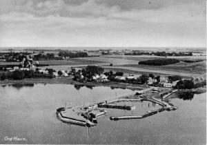 Orø Havn, luftfoto ca 1960