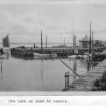 Orø havn, Ourø Skibsbro omkring 1905, postkort