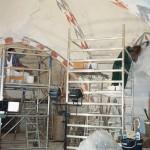Orø Kirke, kalkmalerierne restaureres