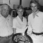 Orø Kro, kroejer Valdemar Bruun og til højre sønnen Svend Bruun