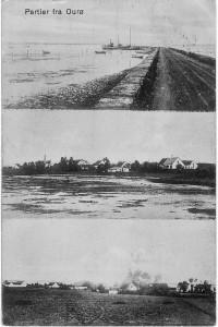 Partier fra Ourø, Orø Skibsbro, Brønne, postkort