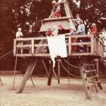 Skoleudstilling - Orø Skole klatretårnet 1982