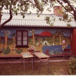Skoleudstilling - Orø Skole vægmaleri 1982